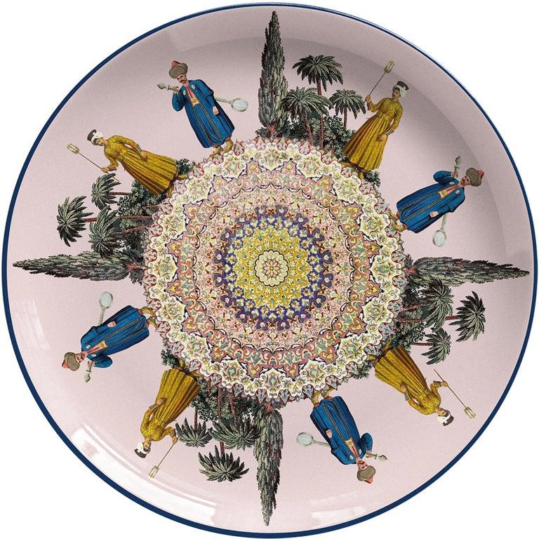 Musicians Porcelain Dinner Plate by Vito Nesta for Les-Ottomans