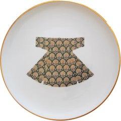 Handmade Kaftan Porcelain Dinner Plate Made in Italy, Kaft2