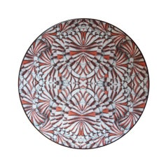 Sultan's Journey Carnations Porcelain Plate by Patch NYC for Les-Ottomans