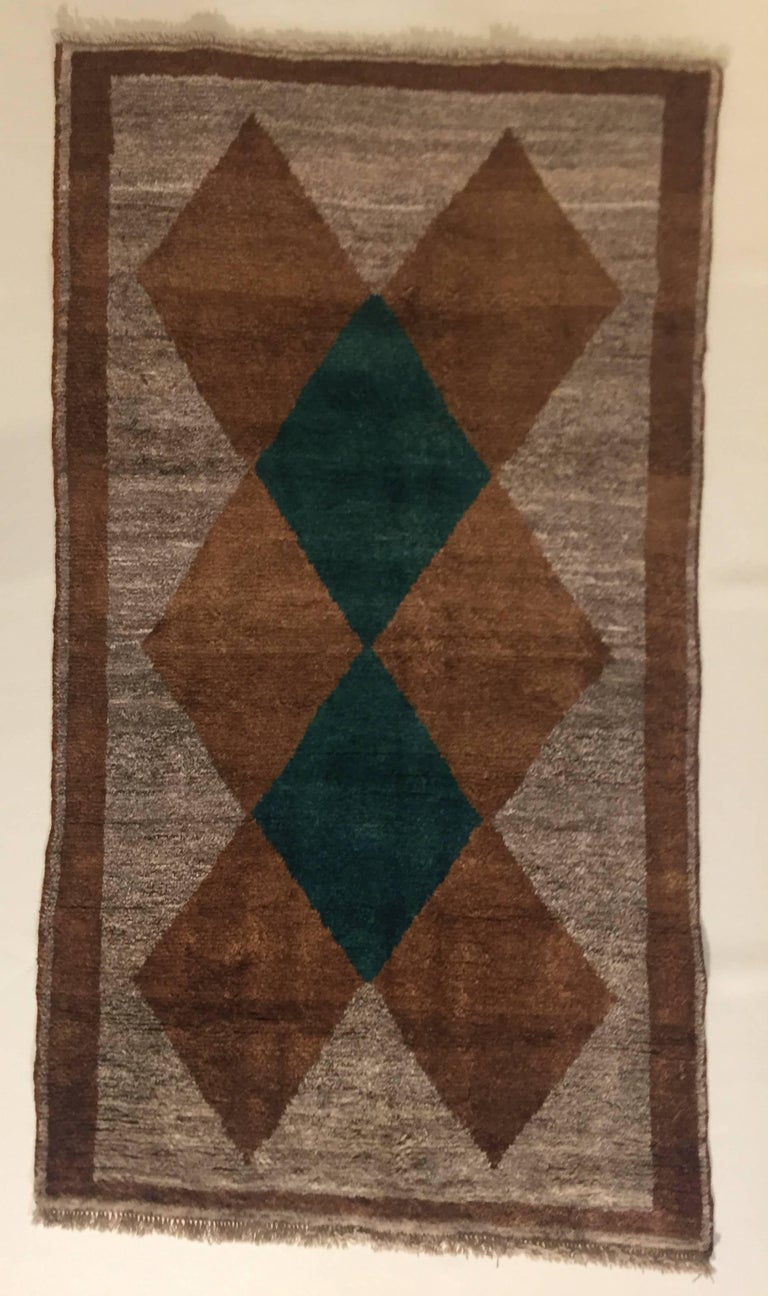 The Gabbeh are knotted by the women of the nomadic tribes that populated the South-West of Iran. Once they were used not only as rugs, but also as mattresses or blankets in tents, in fact they are soft and thicker than other Persian rugs. They are
