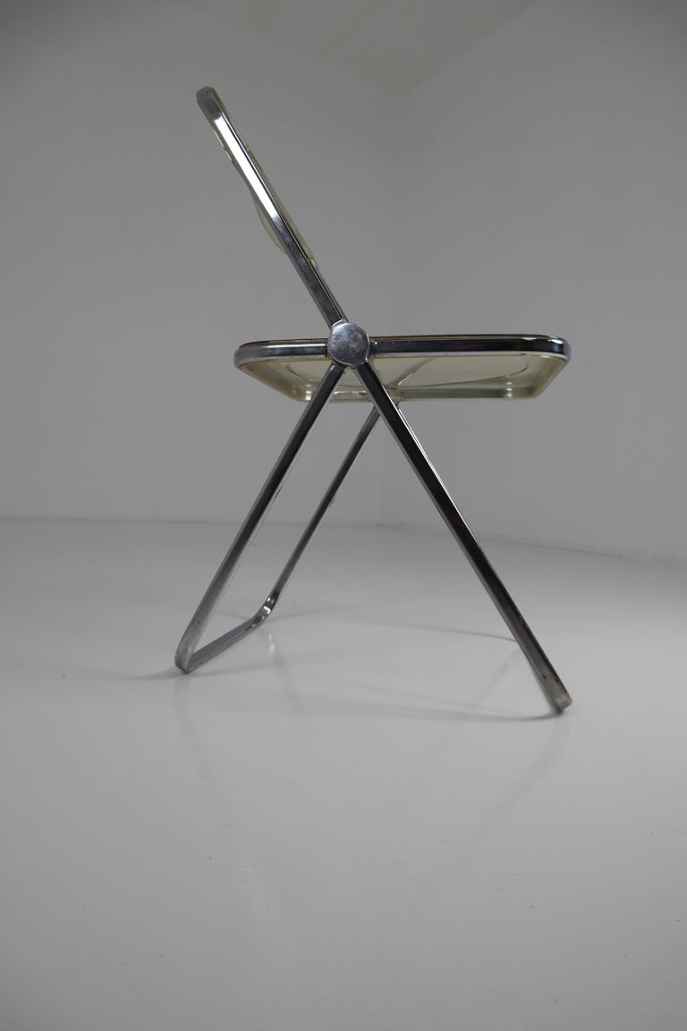 20th Century Set of 48 Green Lucite Plia Chairs by Giancarlo Piretti for Castelli, 1970s For Sale