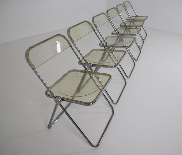 Set of 48 Green Lucite Plia Chairs by Giancarlo Piretti for Castelli, 1970s For Sale 1
