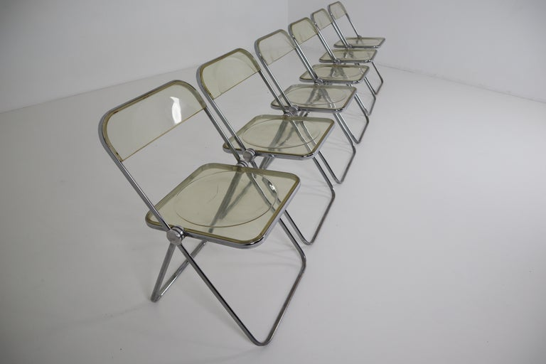 Set of 48 Green Lucite Plia Chairs by Giancarlo Piretti for Castelli, 1970s For Sale 5