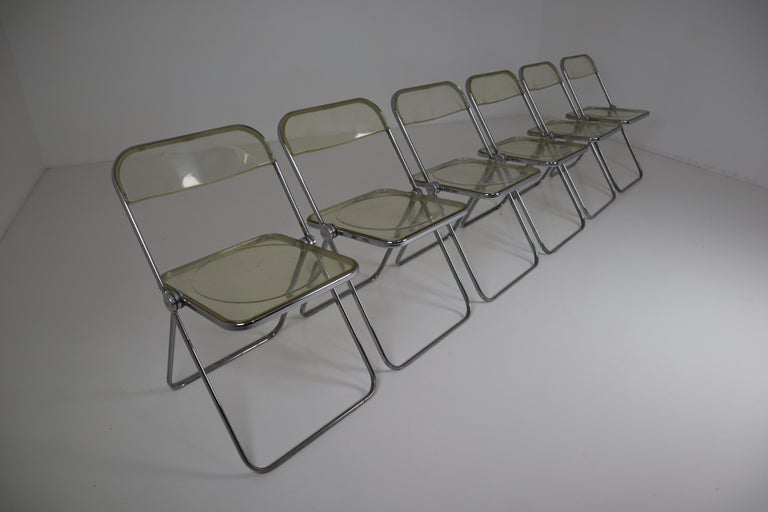 Set of 48 Green Lucite Plia Chairs by Giancarlo Piretti for Castelli, 1970s For Sale 6