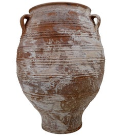 Amazing Large Greek Patinated Terracotta Urn from the Mid-20th Century