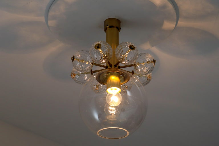European 22 Hotel Chandeliers with Brass Fixture, Europe, 1970s For Sale