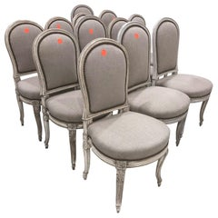 Set of 12 French Regency Style Chairs