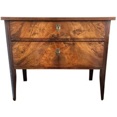 1835 Biedermeier Mahogany Two-Door Chest