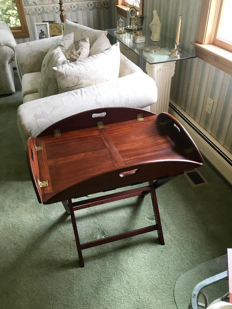 English George III Butler's Tray in Mahogany, circa 1780 For Sale