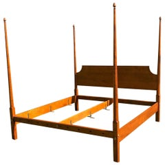 Reproduction Pencil Post King Bed in Tiger Maple