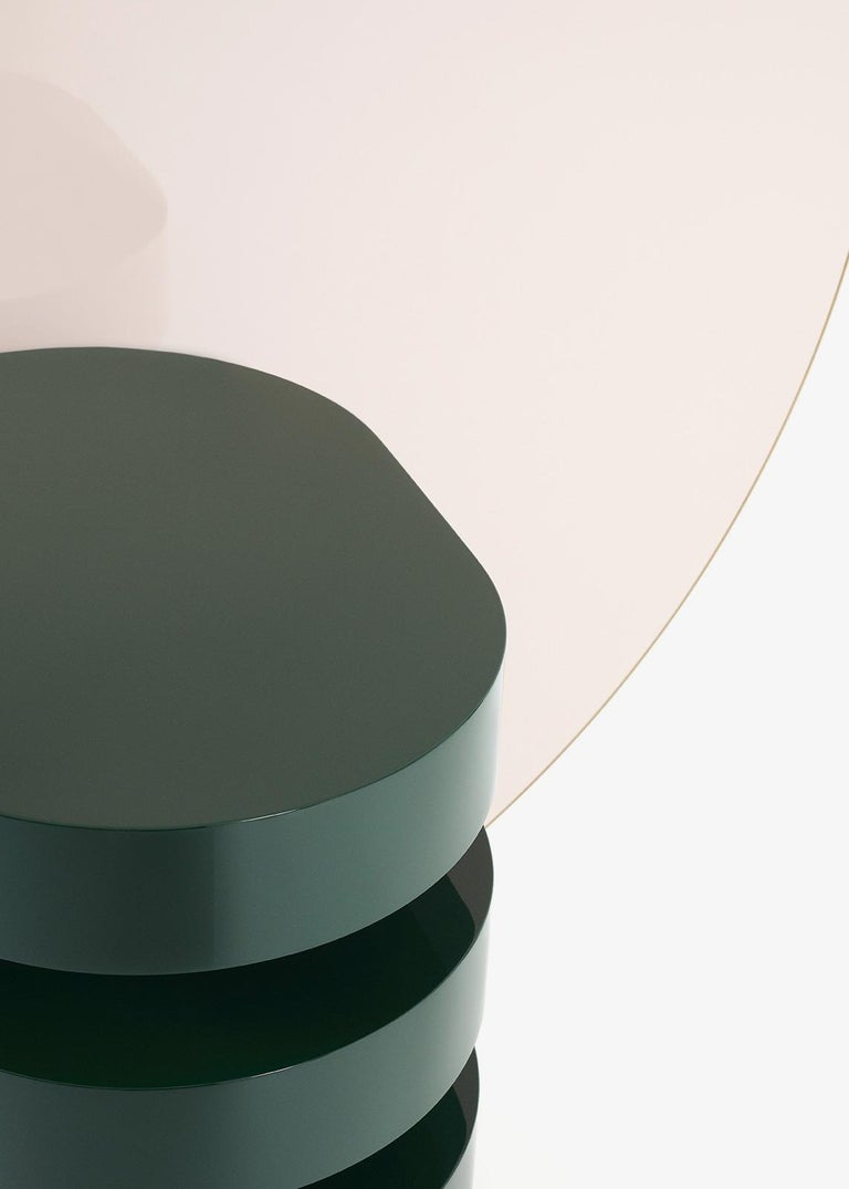 Modern Aglaé Tiered Side Table in Glossy Lacquer, by Joris Poggioli For Sale