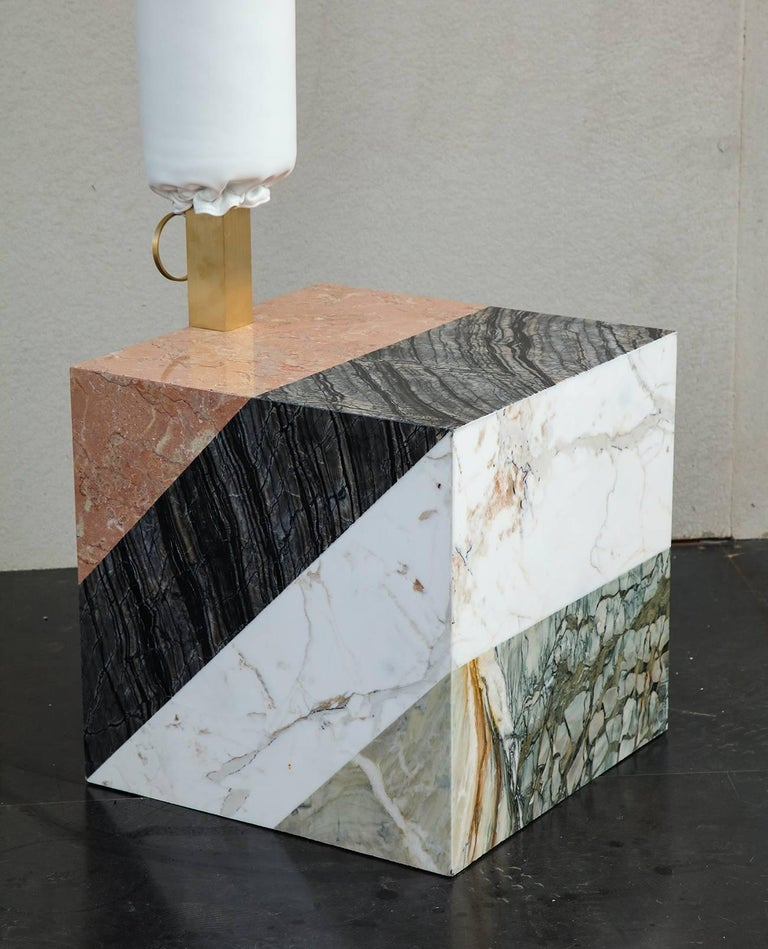HW10 Valet in Marble, Brass and Leather by Home Studios and Natasha Royt In New Condition For Sale In New York, NY