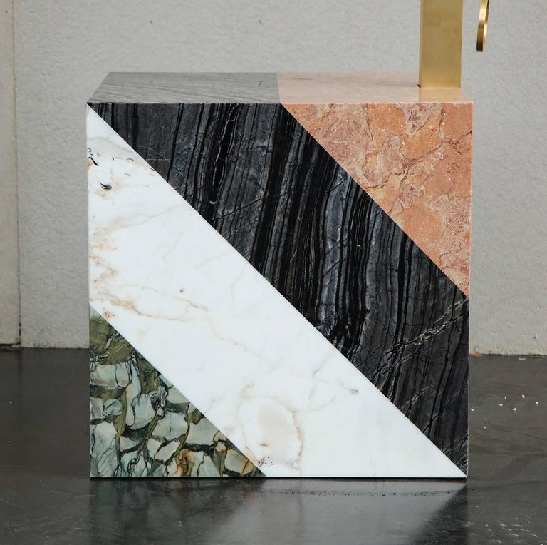 Contemporary HW10 Valet in Marble, Brass and Leather by Home Studios and Natasha Royt For Sale