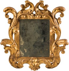 Carved and Gilded Wooden Frame with Elegant Swirls, Venice, 18th Century
