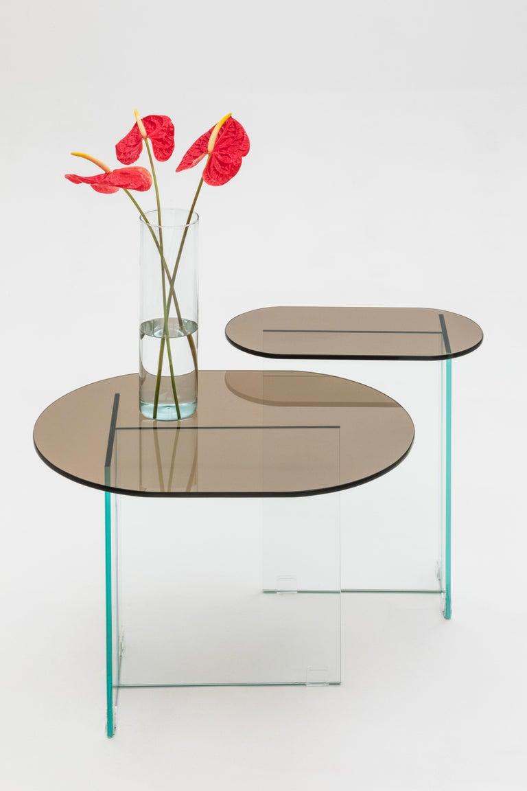 Brazilian Vetro Dark Bronze Side Table For Sale