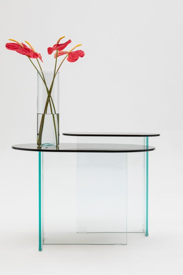Vetro Dark Bronze Side Table In New Condition For Sale In Sao Paulo, BR