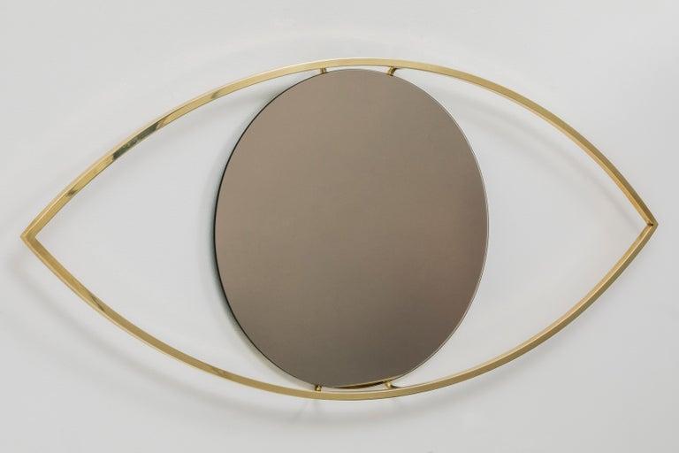 Brazilian Alma Brass Bronzed Mirror For Sale