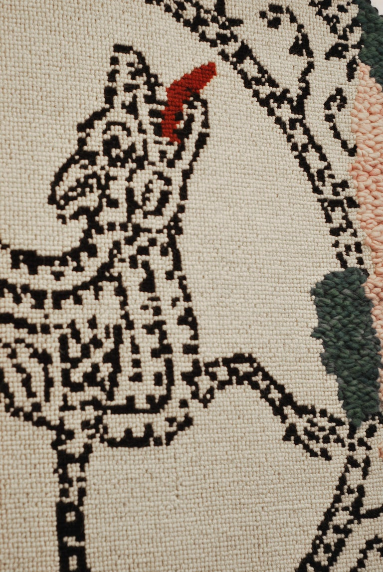 Italian Contemporary Mosaic Wool Carpet For Sale
