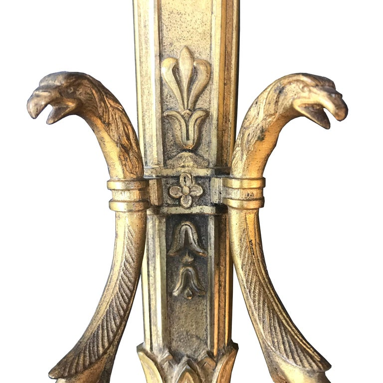 Pair of French Second Empire Candle Sconces In Good Condition For Sale In Chicago, IL