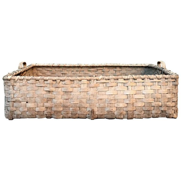 19th Century Kentucky Tobacco Leaf Basket