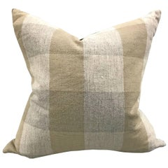 Mid-20th Century Finnish Check Pillow