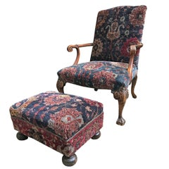 Georgian Armchair with Footrest