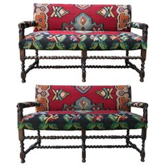 Pair of 18th Century Flemish Benches