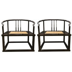 Pair of Modern Roundback Chairs