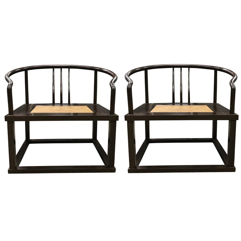 Pair Of Modern Roundback Chairs For