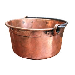 Early 19th Century French Hammered Copper Kettle