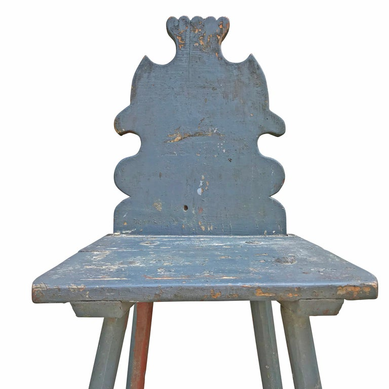 19th Century Tyrolean Painted Side Chair In Good Condition For Sale In Chicago, IL