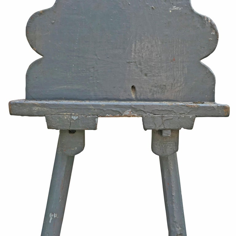 19th Century Tyrolean Painted Side Chair For Sale 3