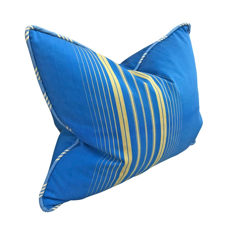 Pair of Early 20th Century French Striped Cotton Pillows In Good Condition For Sale In Chicago, IL
