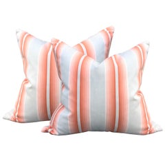Pair of Early 20th Century French Ombré Striped Pillows