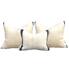 Set of Three Early 20th Century Turkish Embroidery Pillows