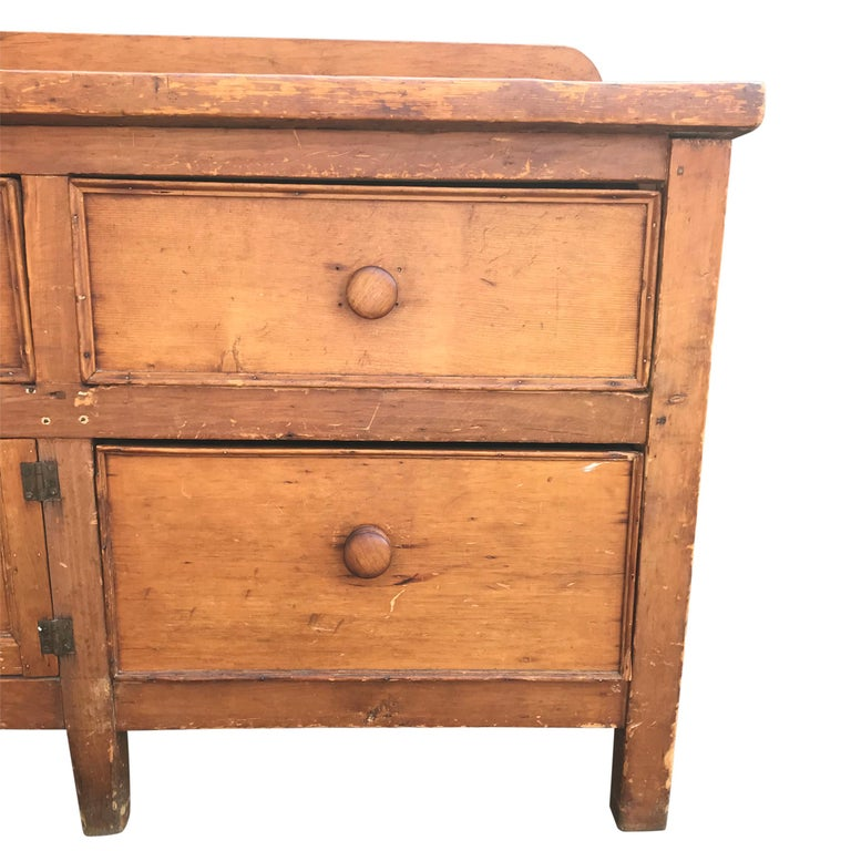 Country 19th Century English Baker's Cabinet For Sale