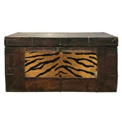 "19th Century Tibetan Leather ""Tiger"" Trunk"