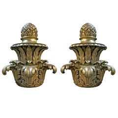 Pair of Early 20th Century American Bronze Finials