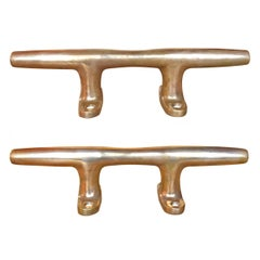 Pair of Bronze Mooring Cleats