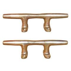 Pair of Bronze Mooring Cleats