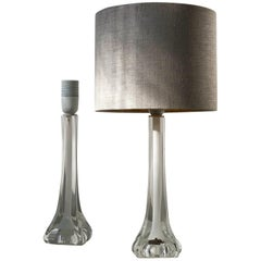 Set of Mid-Century Modern Flygsfors Table Lamps in White by Paul Kedelv