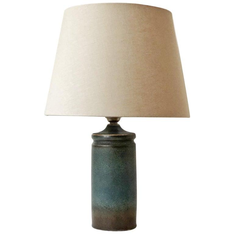 Carl-Harry Stålhane Blue Ceramic Table Lamp for Rörstrand For Sale