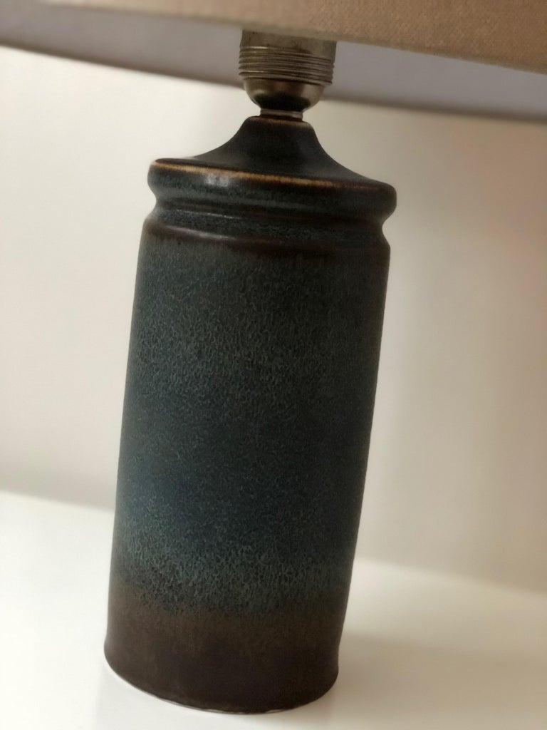 Mid-Century Modern Carl-Harry Stålhane Blue Ceramic Table Lamp for Rörstrand For Sale