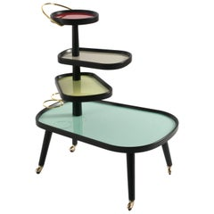 Sushi Kart, Contemporary Trolley on Wheels Design Icon for the Living Room