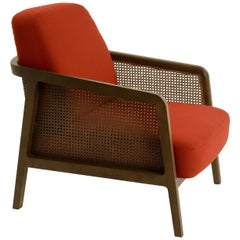 Vienna Lounge Canaletto by Colé, Red Upholstered Cushions Contemporary Design