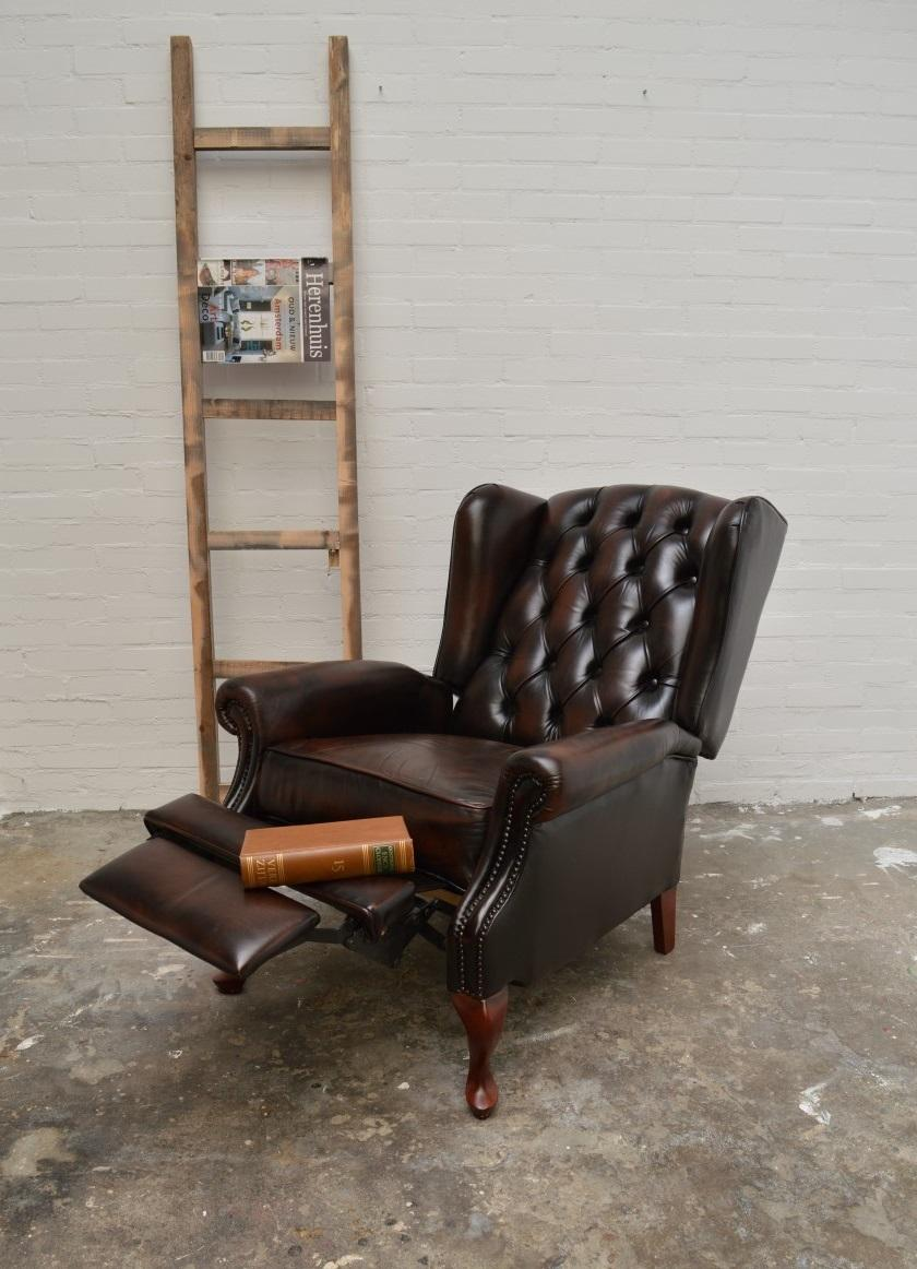 Charmant English Chesterfield Recliner Relax Chair For Sale