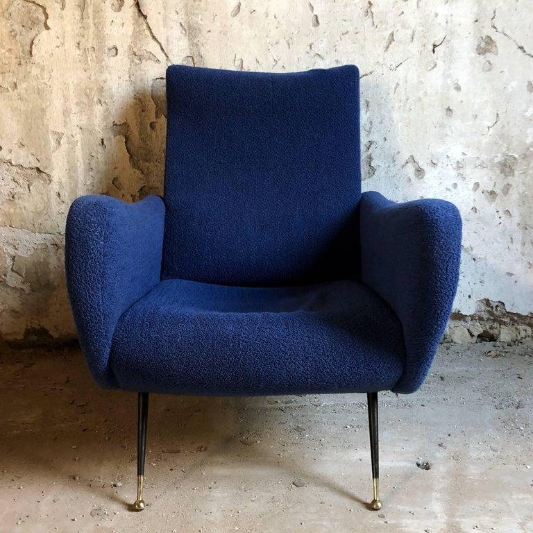 "Vintage lounge armchair in the style of the celebrated 720 ""Lady"", designed by Marco Zanuso for Arflex, now produced by Cassina.