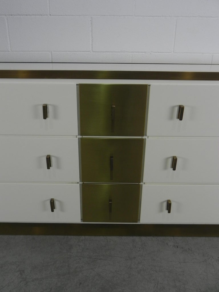 Frigerio Sideboard Italian Brass and Wood, 1950 For Sale 6
