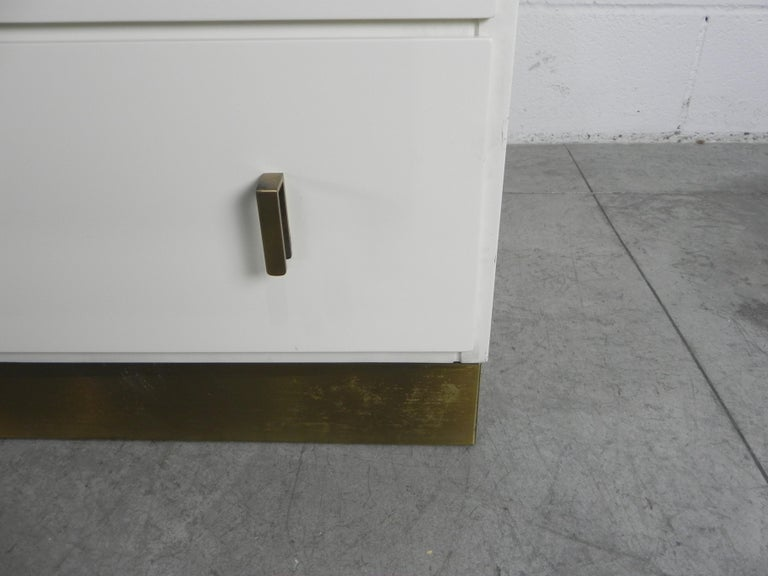 Frigerio Sideboard Italian Brass and Wood, 1950 For Sale 3