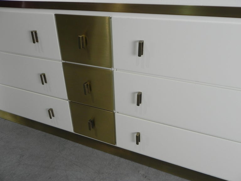 Frigerio Sideboard Italian Brass and Wood, 1950 For Sale 4